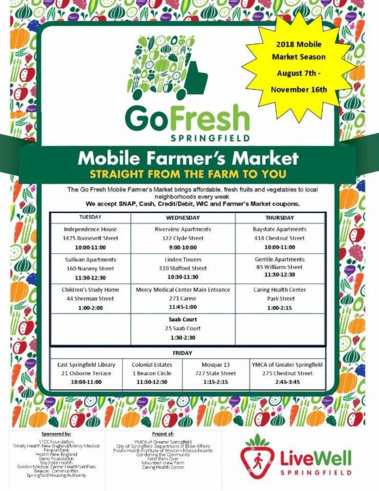 Go Fresh 2018 Schedule